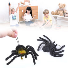 Simulation Lifelike Soft Spider Fool's Day Spoof Scary Tricky Prank Toys TRP(China)