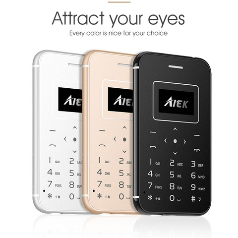 Mosthink IFcane E1 AIEK X8 GSM 2G Cellphone Mini Mobile Phone ultra thin credit card Button Single SIM FM Radio Mp3 mini phones Lahore