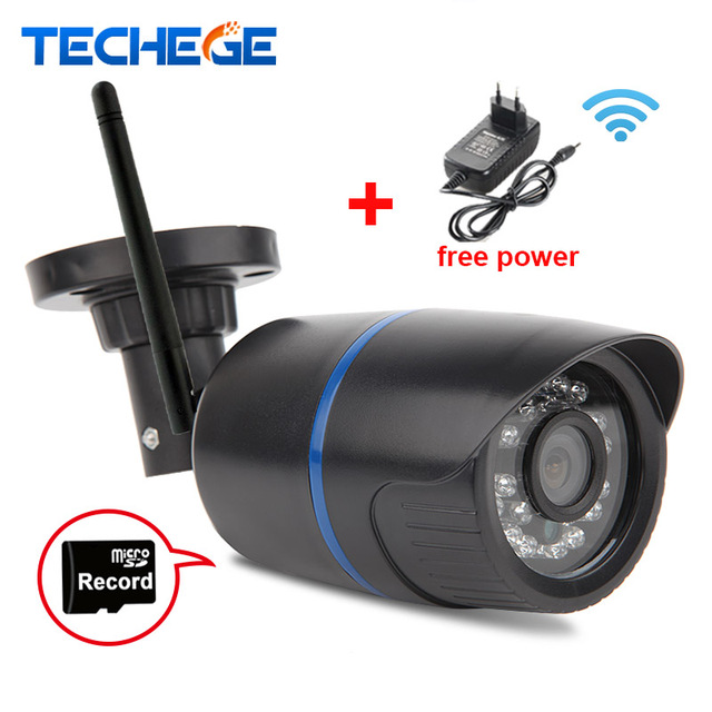 Techege 720P WIFI IP Camera Waterproof HD Network 1.0MP wifi camera day nignt vision In/Outdoor ip camera W free power adapter