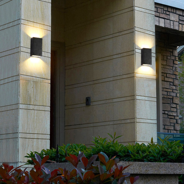 cube tanche cob led lumi re mur lampe moderne clairage d coration jardin mur ext rieur lampe. Black Bedroom Furniture Sets. Home Design Ideas