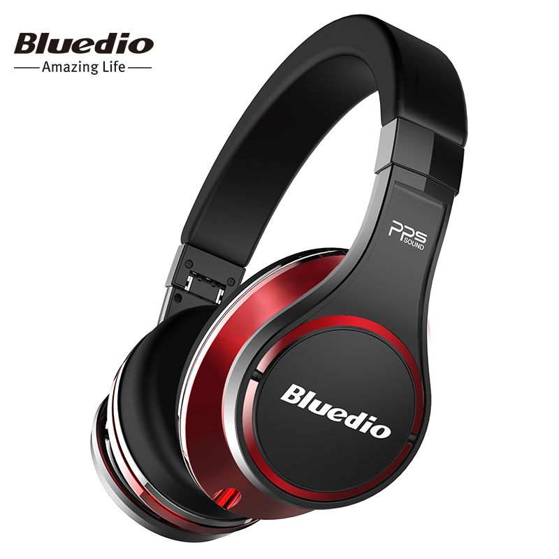 Bluedio U(UFO)High-End Bluetooth headphone Patented 8 Drivers/3D Sound/Aluminum alloy/HiFi wireless Over-Ear headphone original bluedio ufo plus 3d bass bluetooth headset patented 12 drivers hifi wireless headphones with microphone for music phone