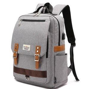 15.6 Inch Laptop Backpack Men Vintage Oxford Backpack Women School Bag Student Travel Bag Female Backpacks for Teenage Girls