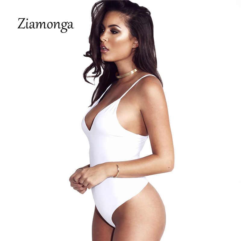 Zionga сексуальный черный Боди для женщин стрейч комбинезон без рукавов 2017 мода открытая спина комбинезон с v-образным вырезом Комбинезоны для женщин