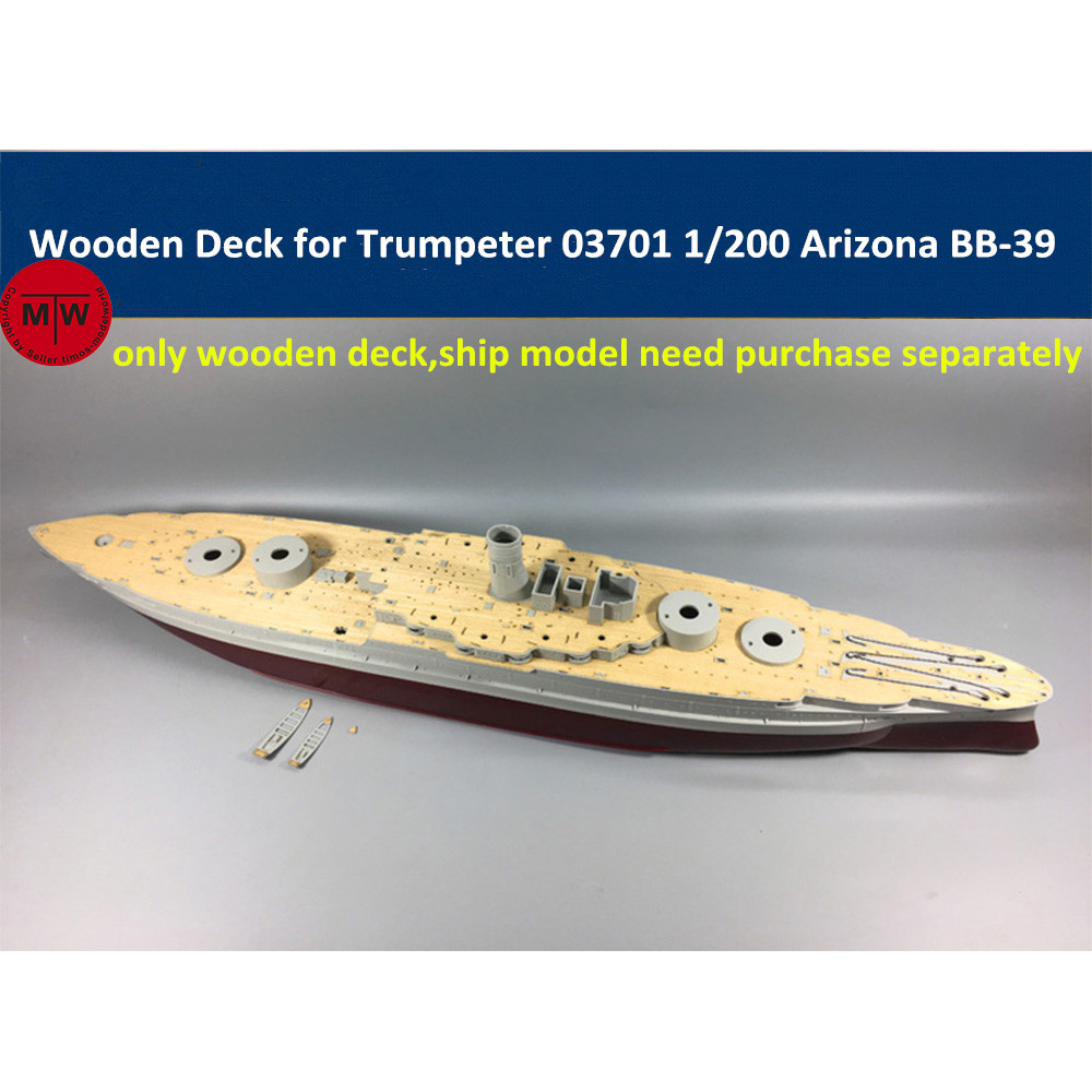 1/200 Scale Wooden Deck for <font><b>Trumpeter</b></font> 03701 USS Arizona BB-39 Ship Model image