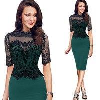 Women Dress MIARHB 2018 Spring Summer Brand Vintage Casual Elegant Slim Off Shoulder Bodycon Lace Pencil Evening Party Dress#070