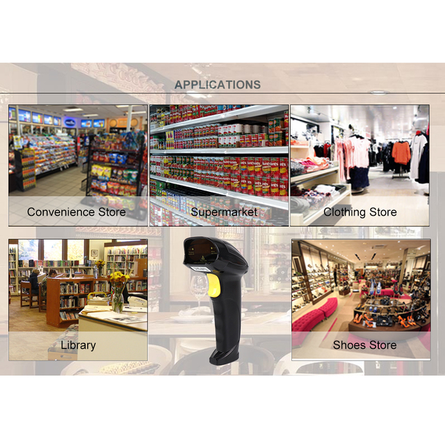 IssyzonePOS 1D Barcode Automatical Scanner Bar Code Corded Reader Handheld Laser Scanner IP42 Warehouse Shop RS232 USB interfac