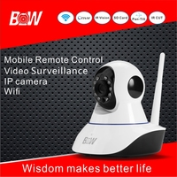 BW Wireless IP Camera Smart Home HD Night Vision Camera 360 Degree Rotation Monitoring 720P Two