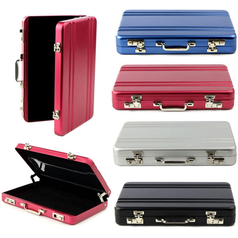 On Sale Lucky Metal Mini Suitcase business card cases Bank Card Name ...