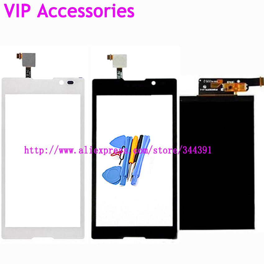 Original S39 LCD Display Touch Screen For Sony Xperia C Dual S39h S39 C2304 C2305 LCD