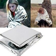 1 шт. Водонепроницаемый аварийный выживания фольги тепловой первой помощи спасательное одеяло