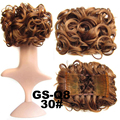 New Curl Hair Big Bun Chignon style of the hair bun Chignon with two Plastic comb elastic net Hairpieces 100g Free shipping