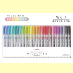 JIANWU 3 pcs 5 pçs/set Japonês papelaria zebra Suave forro dirigido dobro fluorescente caneta gancho caneta caneta Marca de cor bonito