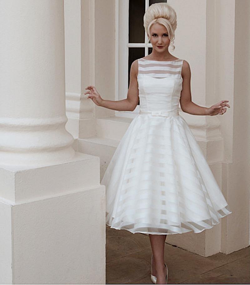 Popular Cheap Tea Length Wedding Dresses-Buy Cheap Cheap Tea ...