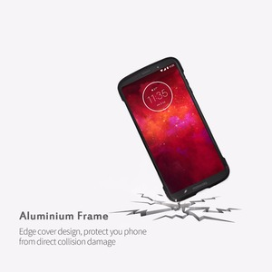 Image 2 - Moto z3 play case, lenovo 원래 알루미늄 금속 범퍼 anti scratch shockproof m 용 moto mods 보호 케이스와 호환 가능