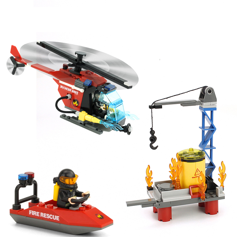 GUDI Sea Rescue City Fire Series Action Model Assemblage Building Blocks Kits Classic Educational Toys Gifts For Children sermoido 02012 774pcs city series deep sea exploration vessel children educational building blocks bricks toys model gift 60095