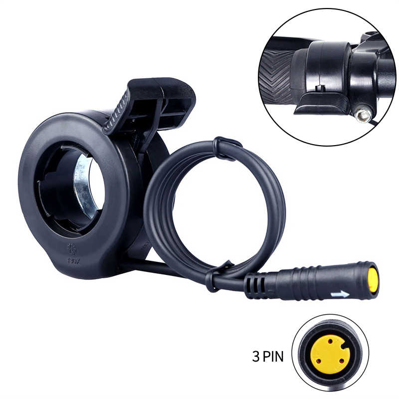 Acelerador de pulgar para Bafang de Motor E-Bike Kits de conversión de 36V 48V 52V 250W 500W 750W 1000W impermeable 3Pin Mujer
