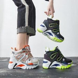 Image 2 - SWYIVY Wedge Chunky Sneakers kobiety obuwie 2019 nowe oddychające szczupłe nogi czarne trampki platformowe buty dla kobiety Sneaker