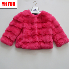 Hot Sale Genuine Real Rabbit Fur Jacket Women Winter Real Rabbit Fur Coat Natural Real Fur Coats Fashion Slim Real Fur Overcoat cheap O-Neck Nine Quarter Solid STANDARD Casual REGULAR Double-faced Fur Single Breasted Full Pelt 103001 100 Real natural reabbit fur