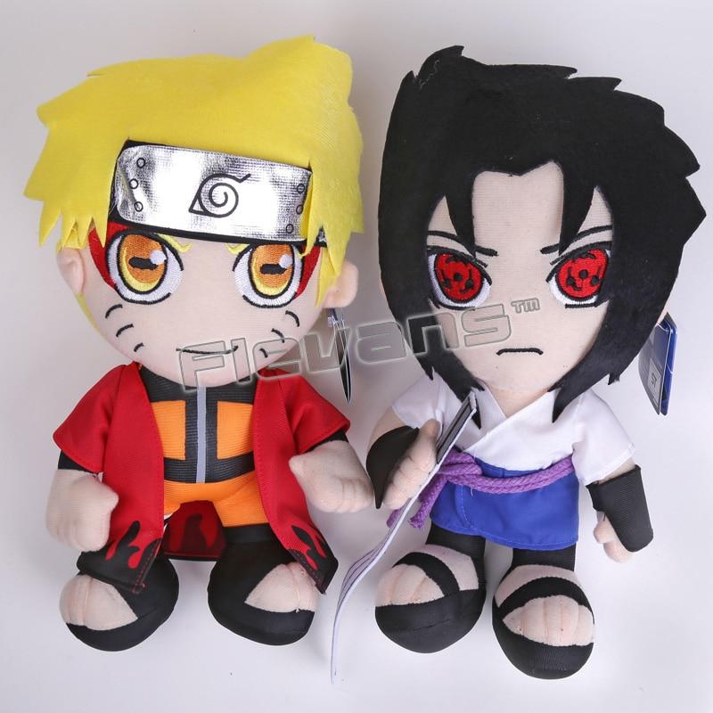 Anime Naruto Uzumaki Naruto Uchiha Sasuke Plush Toys Soft Stuffed Dolls 12 30cm 6pcs figurine naruto action figure anime dolls manga hokage ninjia naruto figuras sasuke gaara uchiha itachi children toys