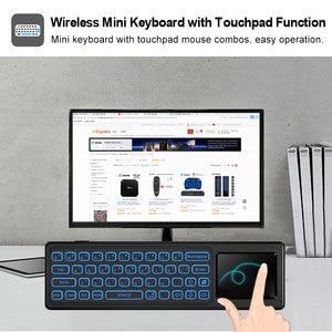 Image 4 - Ses kontrolü Fly Air fare Gyro algılama oyunu 2.4GHz kablosuz klavye uzaktan kumanda Android için mikrofon kutusu X96Max X96mini