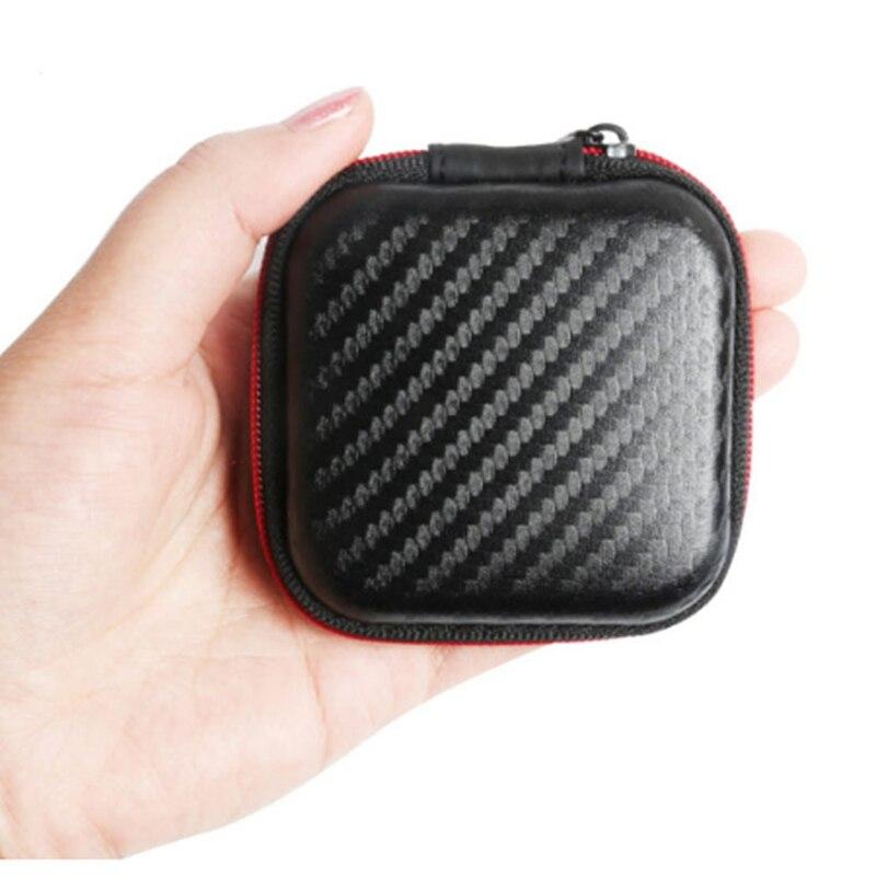 Square Headphone Bag EVA Mini Zipper Portable Case Cable Packaging Storage Cover Earphone Protective Box