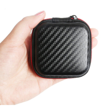 Square Headphone Bag EVA Mini Zipper Portable Case Cable Packaging Storage Cover Earphone Protective Box
