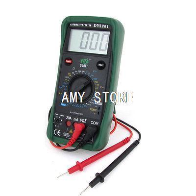 цена на 20mA-20A AC Current Resistance Meter Digital Automotive Multimeter + 2 Test Lead DY2201