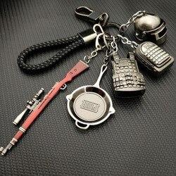 AudWhale PUBG Bakır Anahtarlık Kask Ve Silahlar 98K Oyun Hayranları anahtar zincirleri Yüzük Glitter Llaveros PUBG Hayranları Chaveiro