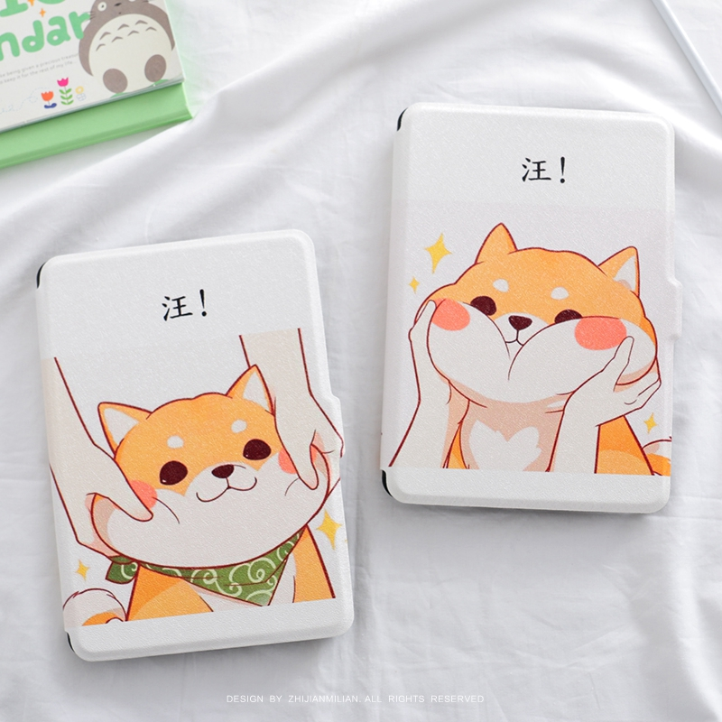 Cartoon Cute Dog Magnet PU Flip Cover for Amazon Kindle Paperwhite 1 2 3 449 558 Case 6 inch Ebook Tablet Case Leather Case japan tokyo boy girl magnet pu flip cover for amazon kindle paperwhite 1 2 3 449 558 case 6 inch ebook tablet case leather case