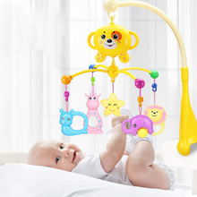 Beautiful Newborn Baby Toys 0-1 Years Old Bed Bells Baby 3-6-12 Months Music Rotating Bedside Bells Rattle Bed Hanging 46cm giraffe rabbit bed bells infant toy ultra long hanging giraffe baby toys rattle bed bells toys 20% off
