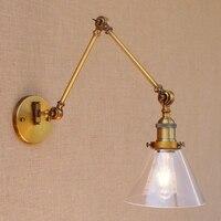 Lukloy настенный светильник, E27 Ретро промышленные Винтаж регулируемый настенный светильник S, из металла Винтаж Освещение для Офис украшения