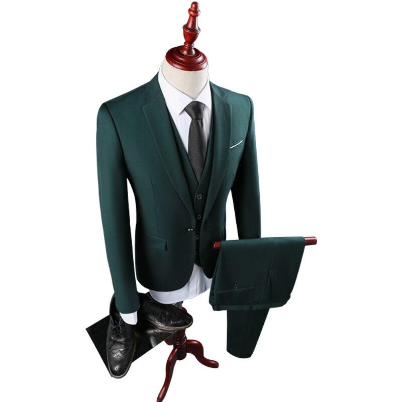 915 3pcs De La Pantalones Trajes Nueva chaqueta Green Hombres Sólido Hombre  Esmoquin Fiesta Asstseries Verde ... d93146f7167