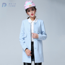 On sale 2015 plus size women winter sky blue coat 5XL big size elegant women woollen long coat