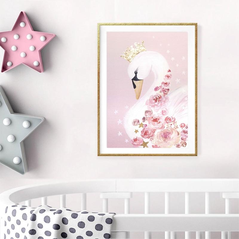 Swan Princess Canvas Art Picture Home Decor
