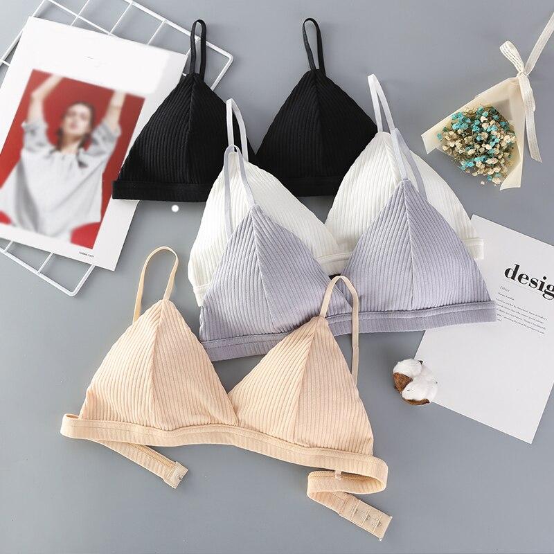 2019 Summer Women Bras Sexy Lingerie Underwear Brassieres Cotton Wireless Seamless Bralette