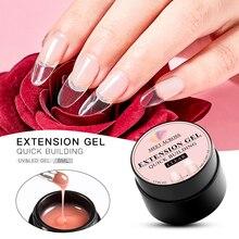 цены 8ml Acrylic Poly Nail Gel Pink White Clear Crystal UV LED Builder Nail Gel Tips Enhancement Slip Solution Quick Extension Gel