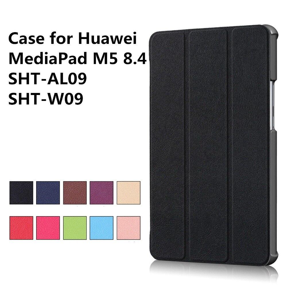Case for New Huawei Mediapad M5 SHT-AL09 SHT-W09 8.4 Tablet Case Smart Cover Skin+gift