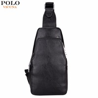 VICUNA POLO Fashion High Quality PU Leather Men Messenger Bag Practical Crossbody Shoulder Bag For Male