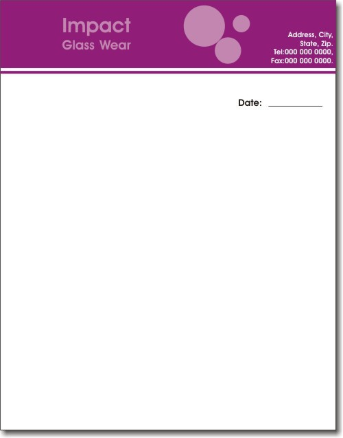 sample letter pad
