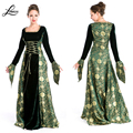 Woman's Renaissance Medieval Gothic Long Dress For Halloween Ball Gowns Costumes Gypsy church Notre Dame Cosplay Dress