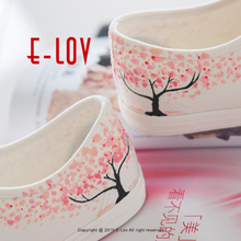 Special Pink Leaf Tree Pattern Platform Canvas