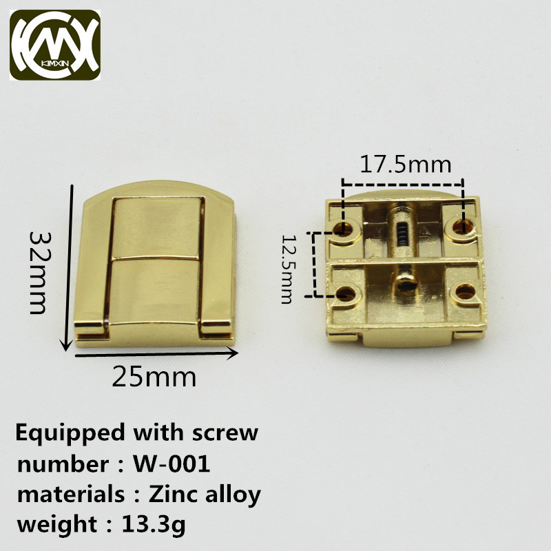 KIMXIN Hardware Factory Sell Special Lock For Woodworking  Wooden Box Lock Zinc Alloy Fastener Equipped With Screw  W-001