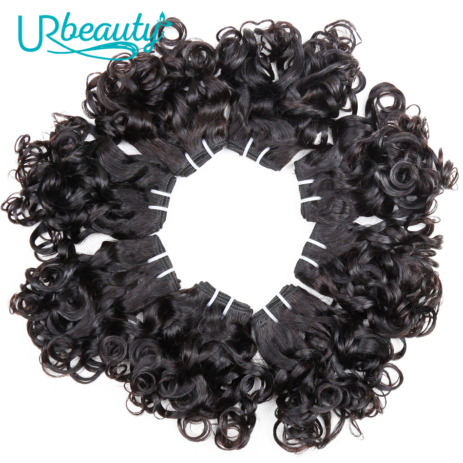 Image 5 - 25g/pc Brazilian Wavy Bundles 100% Human Hair 8 Bundles Wavy Human Hair Weave Bundles Natural color UR Beauty Remy Hair-in Hair Weaves from Hair Extensions & Wigs