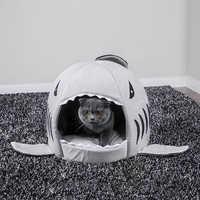 Haustier Katze Bett Kissen Weiche Haustier Hund Haus Shark Für Große Hunde Zelt Hohe Qualität Baumwolle Kleine Hund Schlafsack reise Produkte Getriebe
