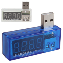 White / Blue Digital Display Hot USB Power Portable Mini Current Voltage Tester Detector