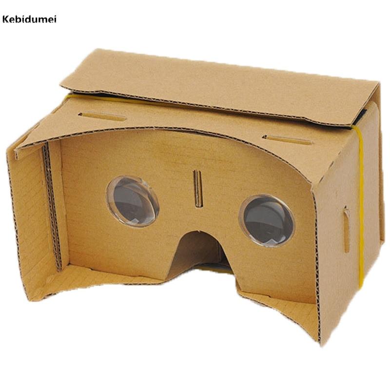 """Kebidumei DIY Google cardboard 3D VR коробка реальности Очки VR мобильного телефона 3D для 5.0 """"Экран Google VR 3D фильмы Игры"""