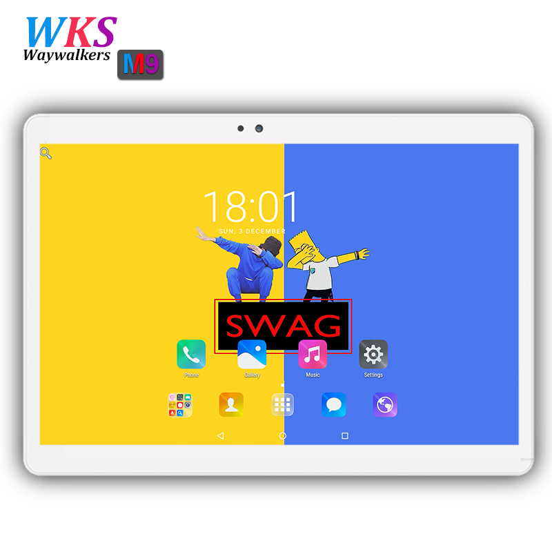 Free shipping 10.1 inch 3G 4G Tablet PC Android 7.0 Ocat Core 4GB RAM 32/64GB ROM Dual SIM Card 1920*1200 IPS tablets pc 10 10.1