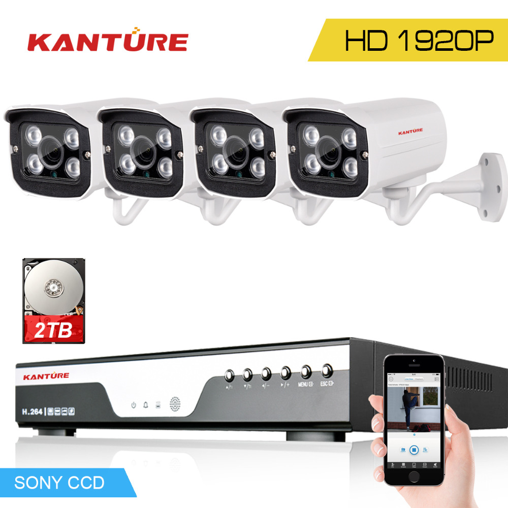 SONY IMX322 Security 3 0MP 1920p Video Surveillance in outdoor AHD Camera Kit 4Channel 1920 1080P