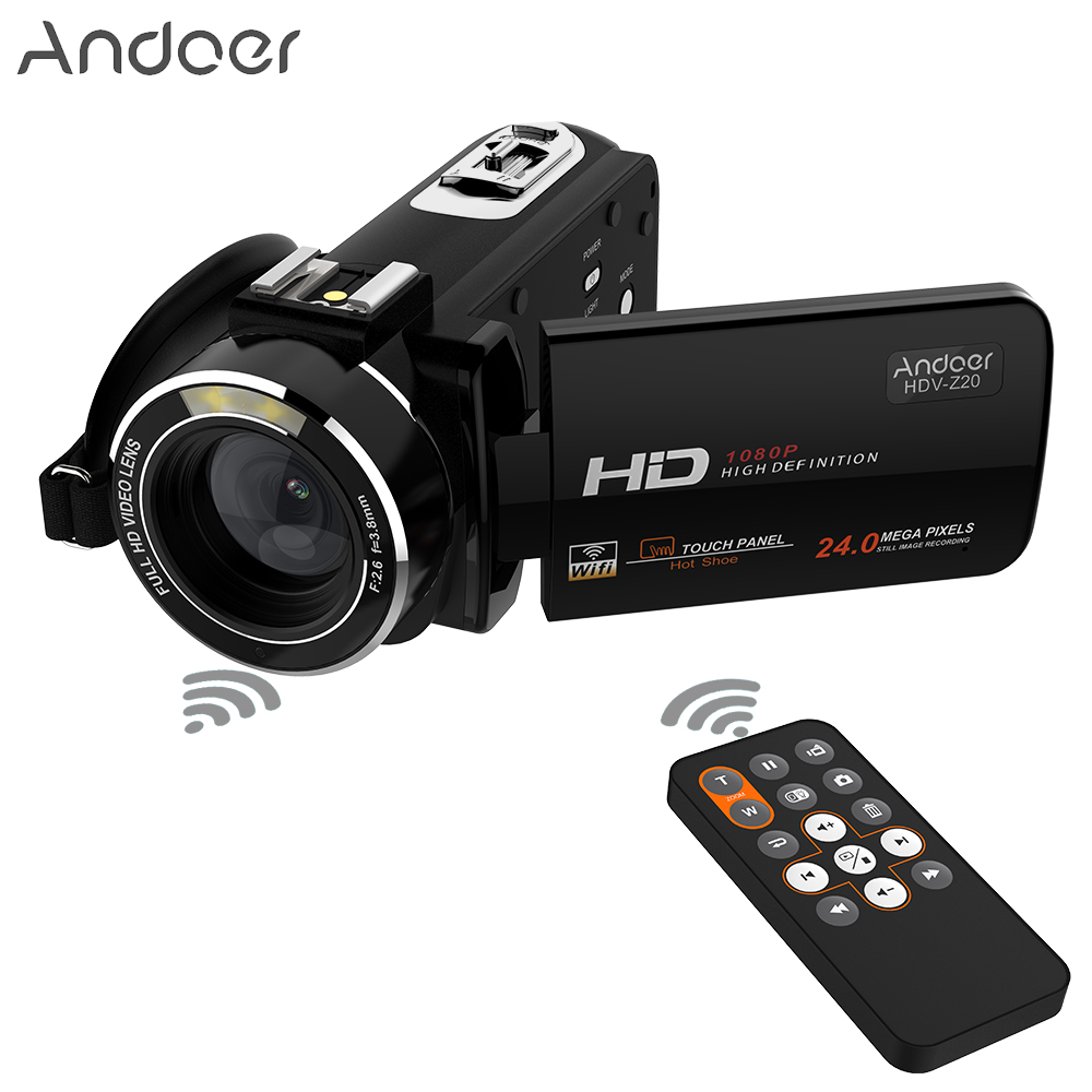 Andoer HDV Z20 1080P Full HD WiFi Digital Video Camera Rotatable 3 0 LCD Touchscreen 24