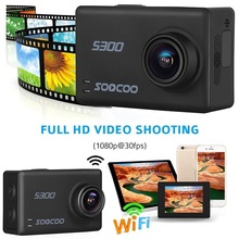 """SOOCOO S300 Action Camera 2.35"""" touch lcd Hi3559V100 + IMX377 4K 30fps 1080P 120fps EIS Wifi 12MP remote external mic GPS camera"""